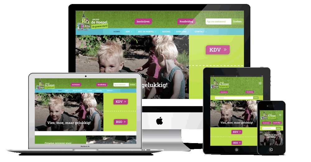webdesign Kinderdagverblijf de Hoepel